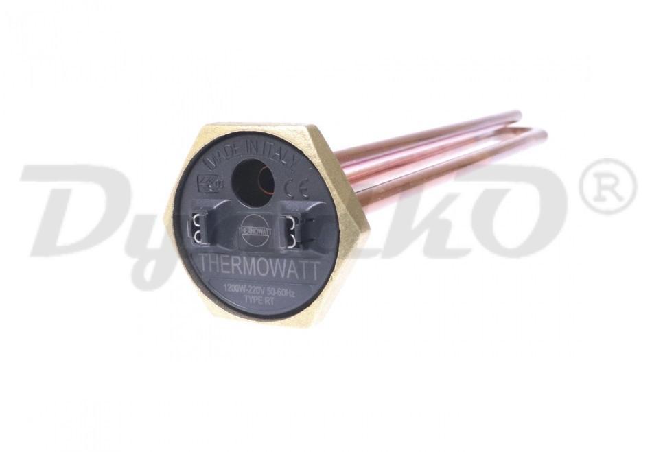 """Тэн для водонагревателя 1200w 220v RDT TW3 SY (резьба 1""""1/4, без анода), зам.182232, D-42мм, H-290мм"""