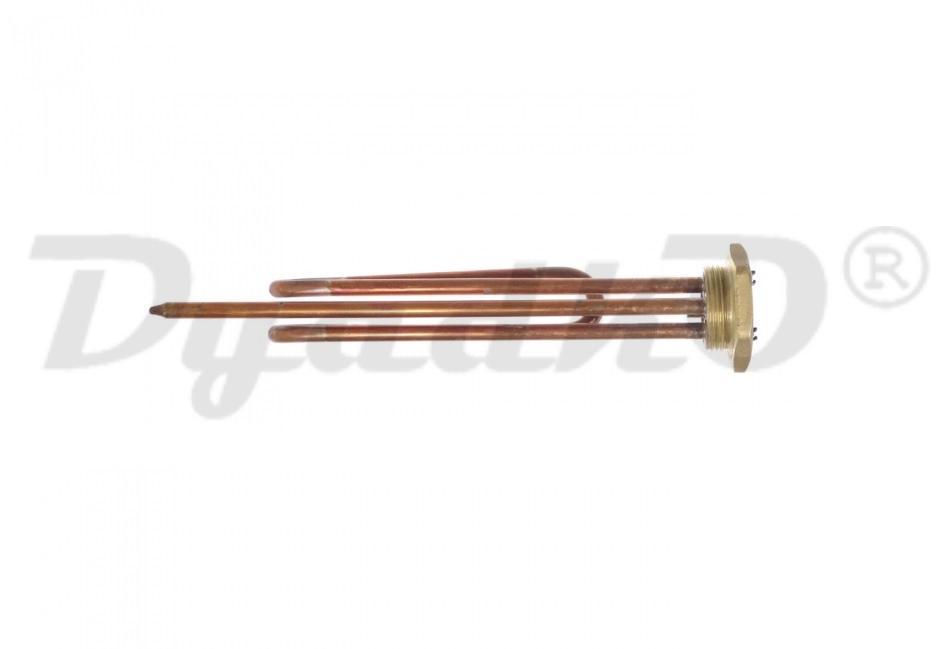 ТЭН RCT 1500W, медь, Ø42мм, М6, клеммы под стержневой термостат, L210мм, вертикальный, 220V, 30296