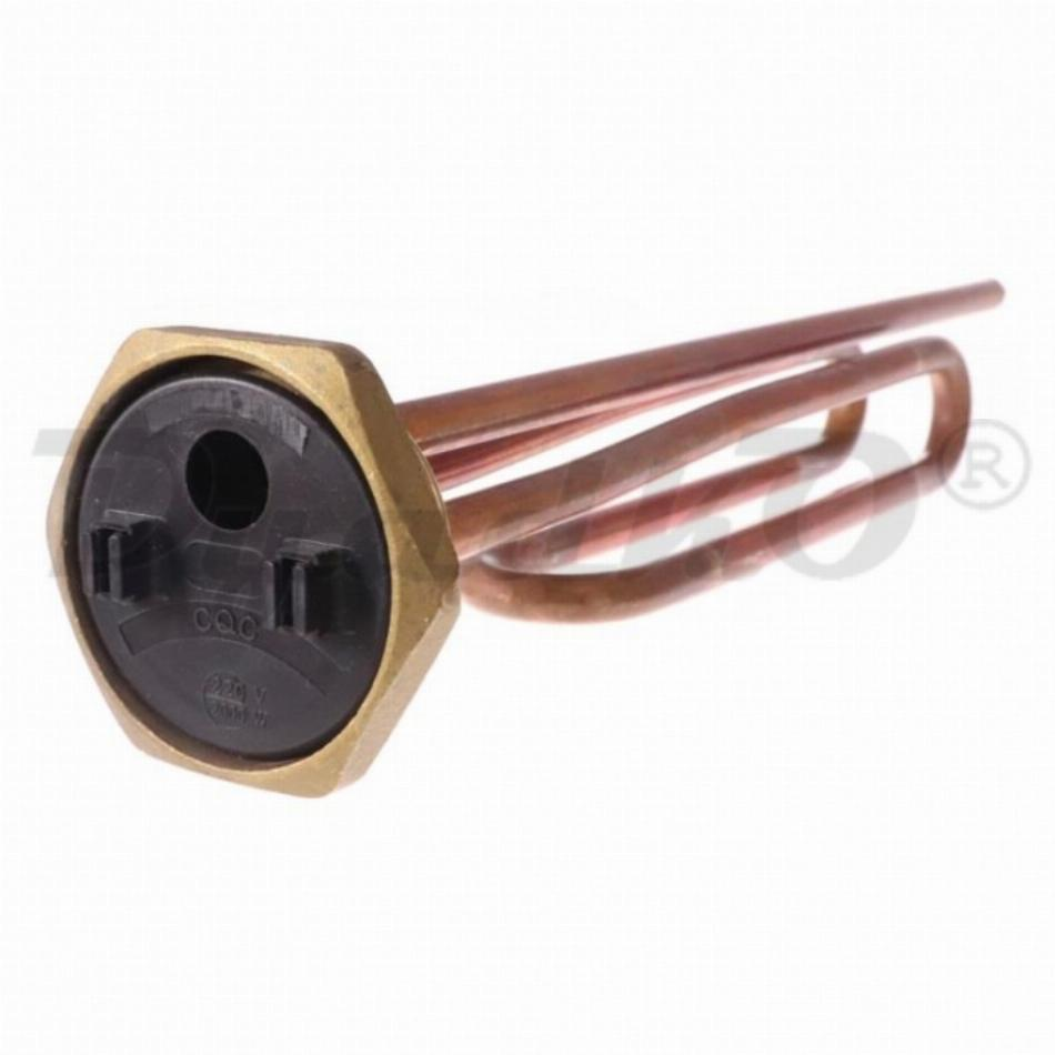 ТЭН RCT 2000W, медь, Ø42мм, М6, клеммы под стержневой термостат, L285мм, вертикальный, 220V, 30251